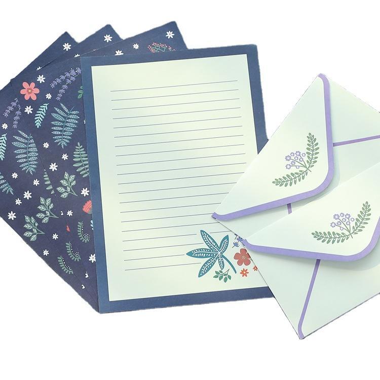 Plain White Square Colored Kraft Paper Greeting Cards Purple Packaging Envelopes