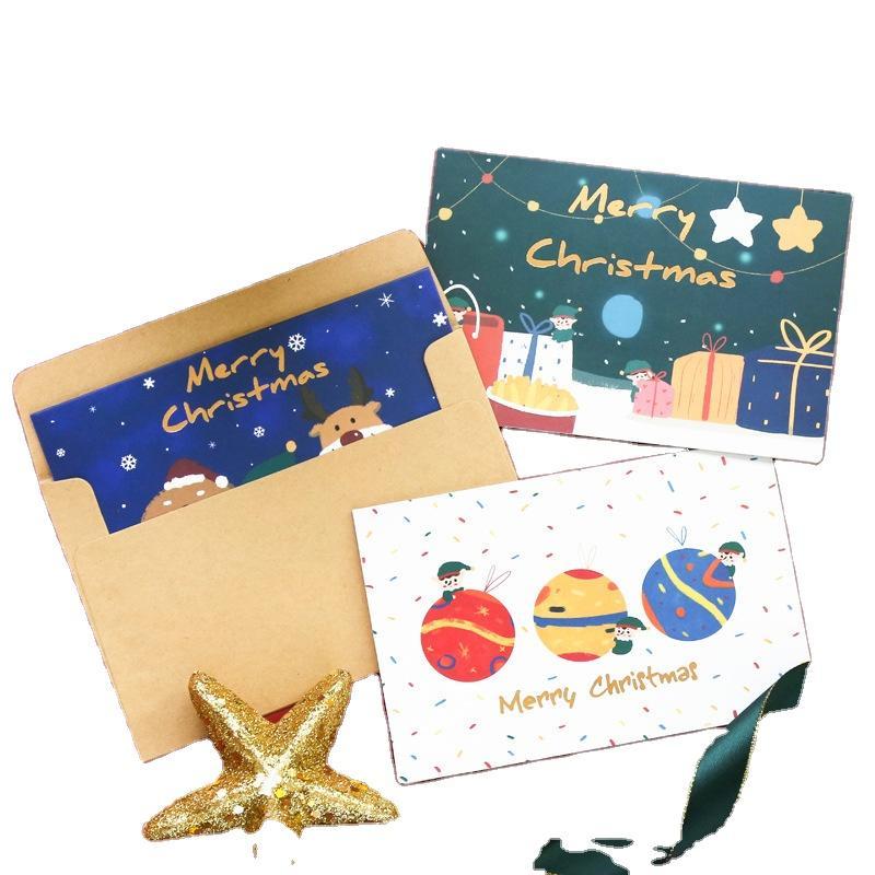 Custom Small Size 2020 Christmas Card New Year Gift Greeting Card Printing