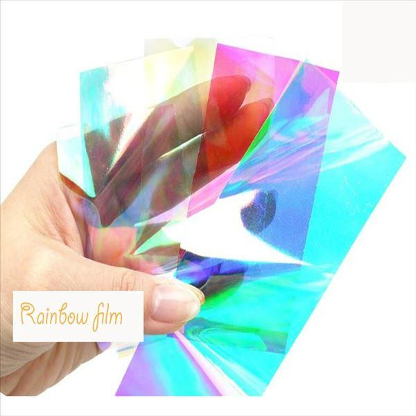 PET Transparent Rainbow Film For Candy Wrapping And Sequin Glitter Making