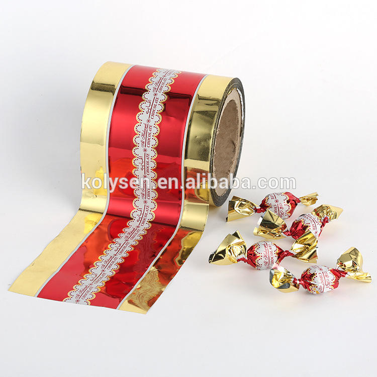 Custom Printed Food grade PET Twist Film For Candy Wrap in roll Manufacturer