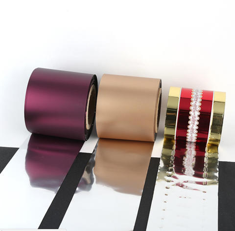 Moisture proof metallized PET twist film used for wrapping candy