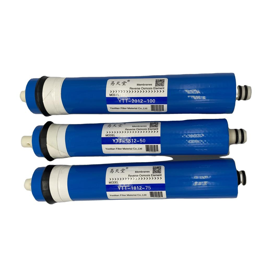 High Desalination Rate 50GPD RO Deionized DI Water Purifier Membrane Filter Parts Equipment Replacement System