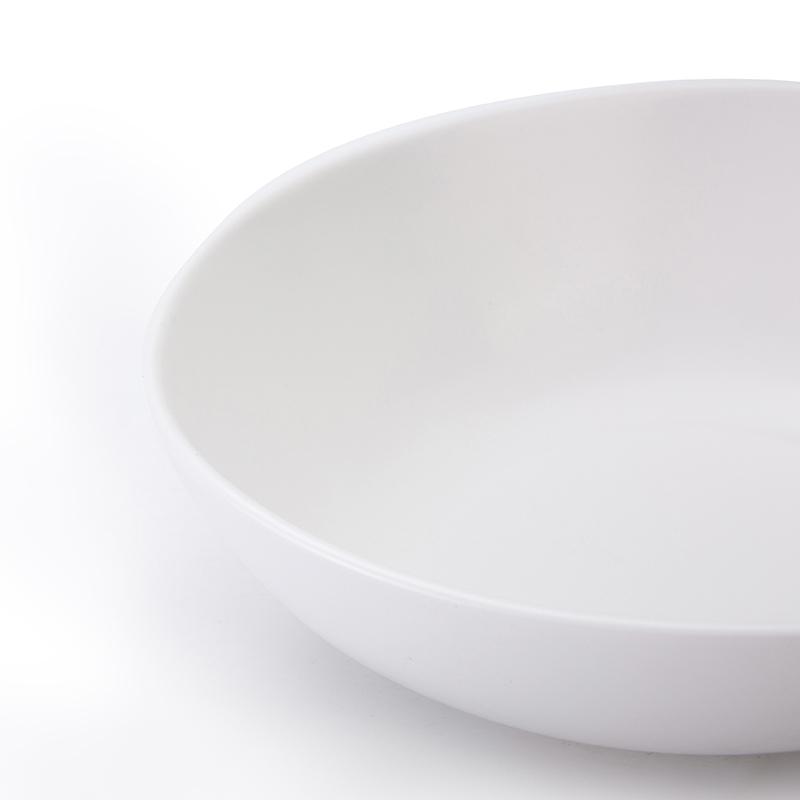 hotel restaurant pasta bowls new design matt white glaze noodles bowl