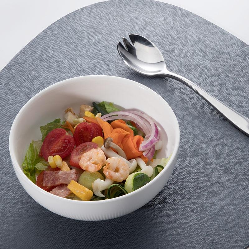 Ceramic Dinner Porcelain Round Bowl,Porcelain Salad White Bowl,The Dinner Bowl for Restaurant or Hotel
