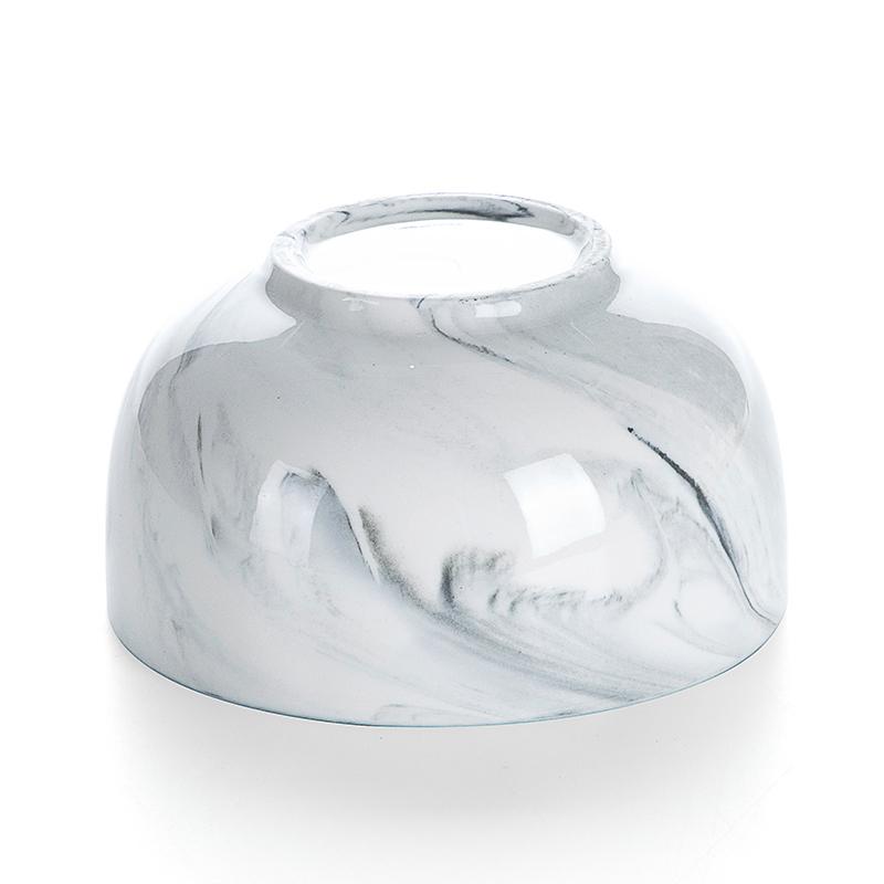 2019 Amazon Gold Rim Dinner Set Grey Stone Plate Deep Bowl, Ceramic Round Deep Bowls