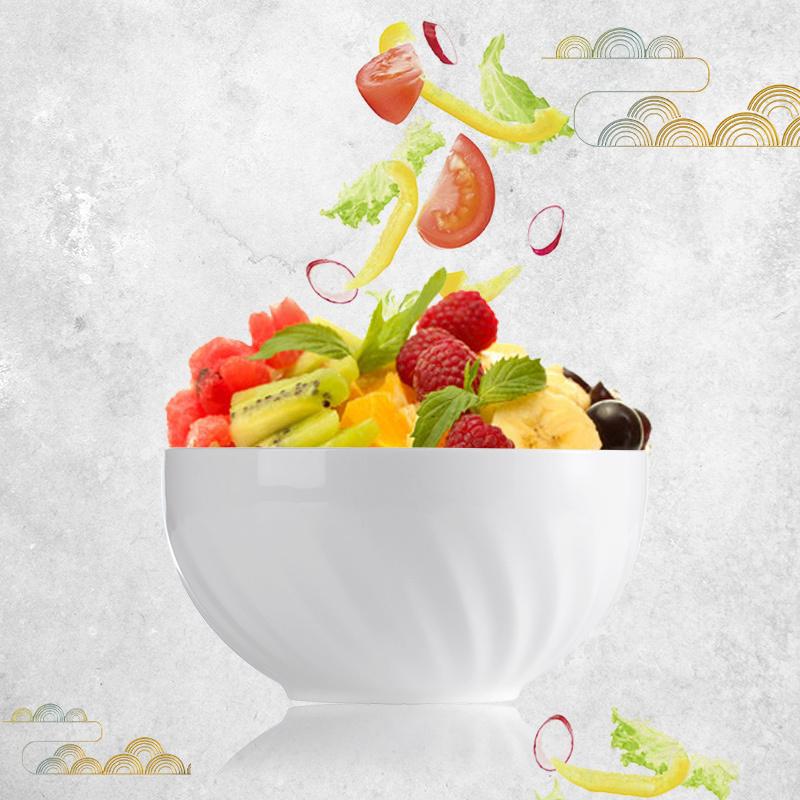 6.25 inch Round Crockery Bowls, Restaurant Plates And Bowl, Luxury Ceramic Dinnerware Sets%