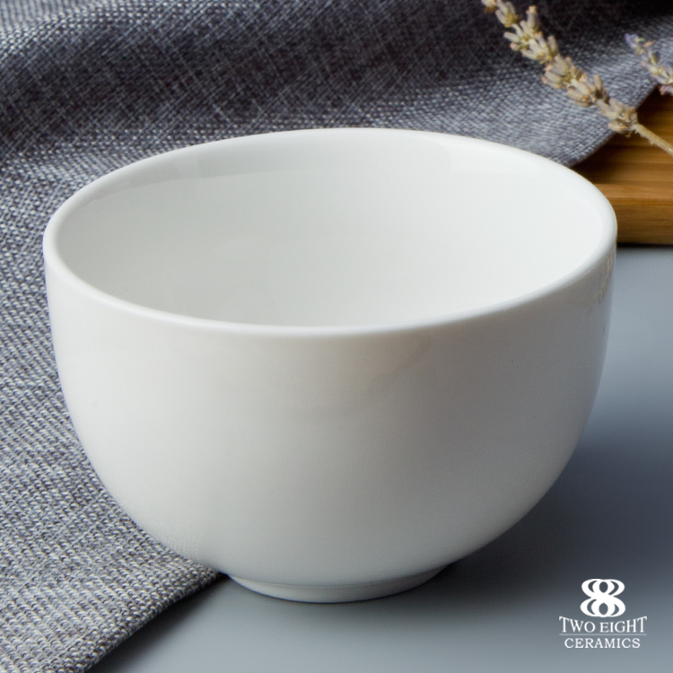 Wholesale ceramic bisque rice bowl, high quality porcelain tableware