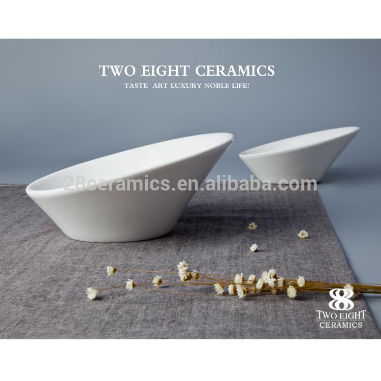 Bulk Ceramic Salad Bowl,Elegant White Porcelain Soup Bowl