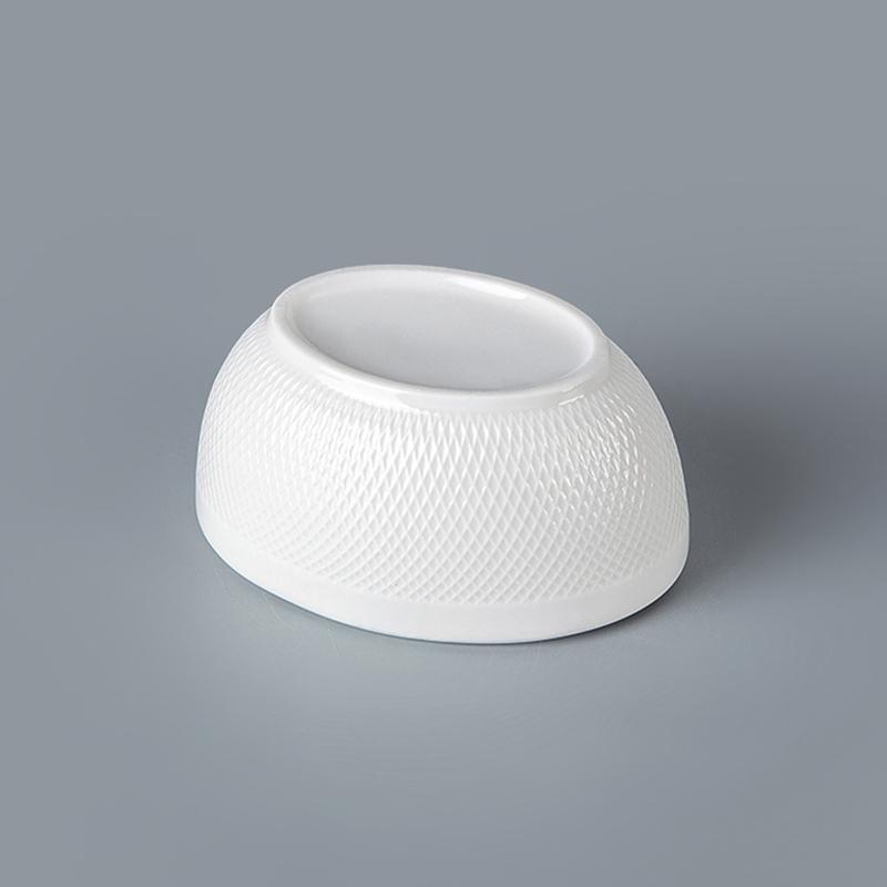 Wholesale Chinese Ceramic Durable Porcelain for Restaurant Sugar Sachet Holder Bowl
