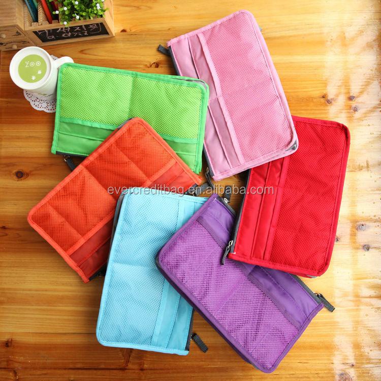 10 Colors in stock Purse Insert Organizer Bag