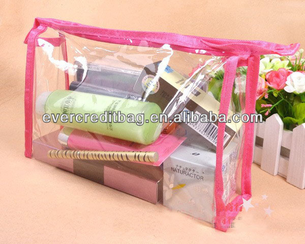 New Hot Transparent PVC Cosmetic Pouch, PVC Toiletry Pouch