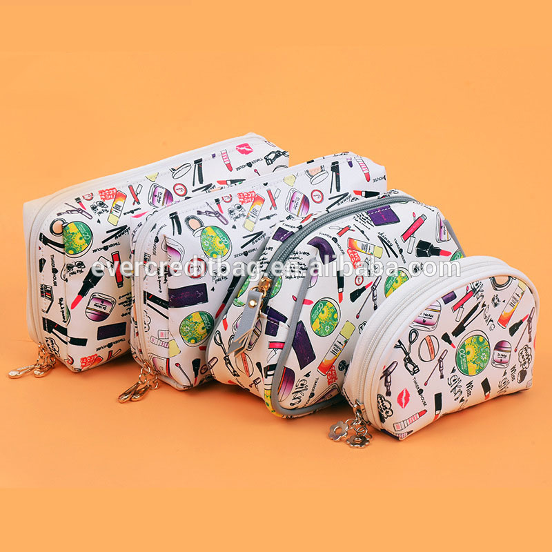 Waterproof Fabric Cosmetic Bags Portable Travel Toiletry Pouch Makeup Organizer Clutch Bag with Zipper