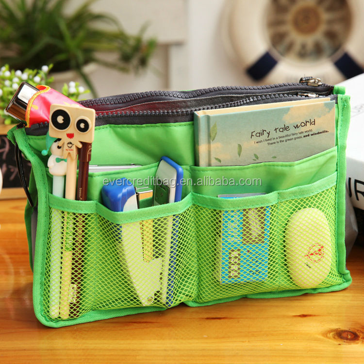 Green Purse Insert Organizer Bag in Bag