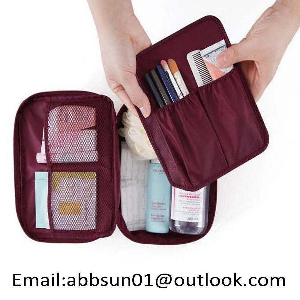 Multifunction travel cosmetic bag makeup case zipper portable organizer storage wash bag handbag