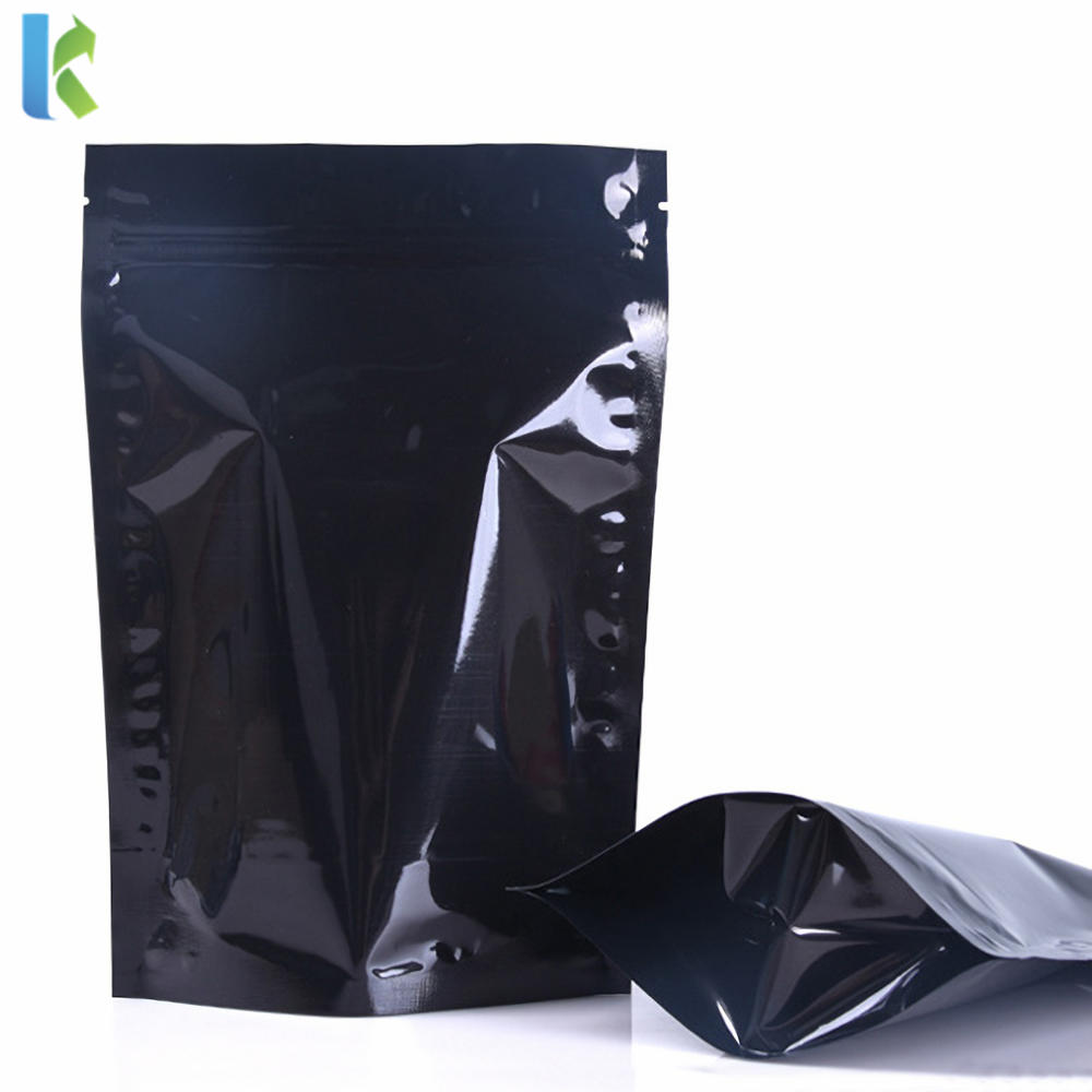 China Factory Custom Stand Up Zipper Pouch Biodegradable Black Plastic Doypack Aluminum Foil Bag for Food Packaging