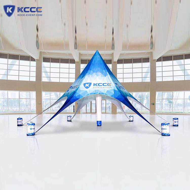 Manufacturing Air tube Advertising Canopy Star Tent, outdoor inflatable display tent