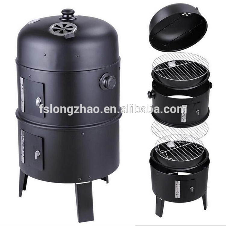 Hot sale three layers backyard cheap bbq smoker grill for sale