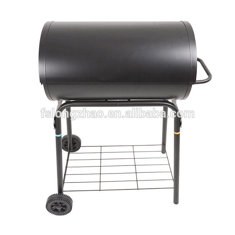 Oil drum shape bbq pit fish smoker charboal grill smoker for sale