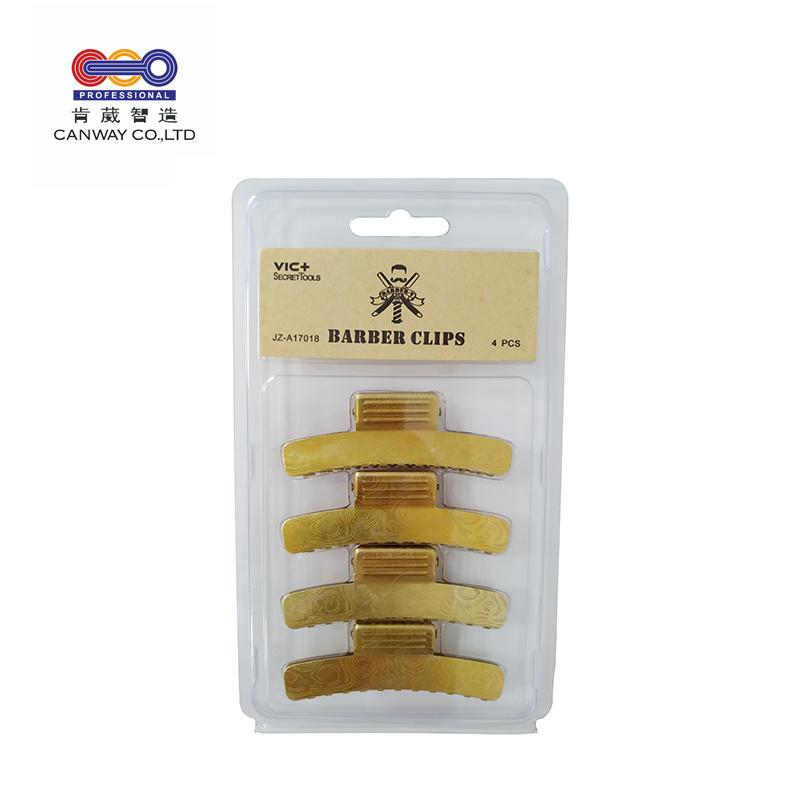 Factory custom wholesale yellow copper shark salon clip hair clips for big hair
