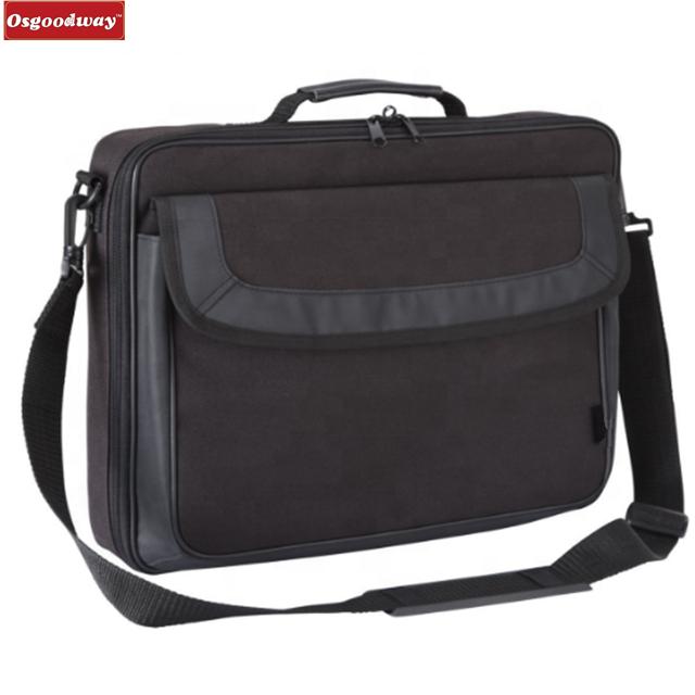 Osgoodway Hot Sale Classic Waterproof Business Men Laptop Bag Computer Briefcase Shoulder Bags for Trip