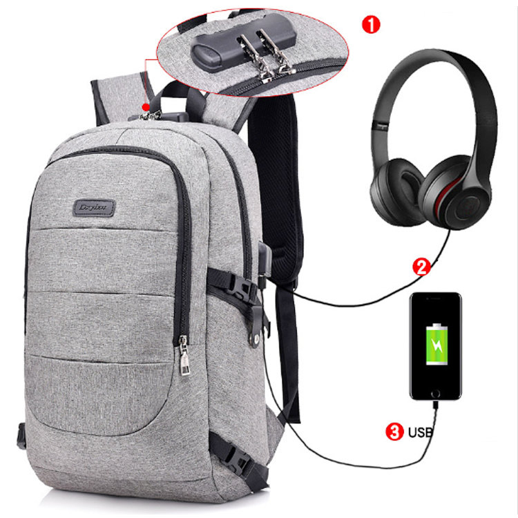 Osgoodway2 Anti Theft College Backpack USB Charging Bag School Backpack For Boys and Girls