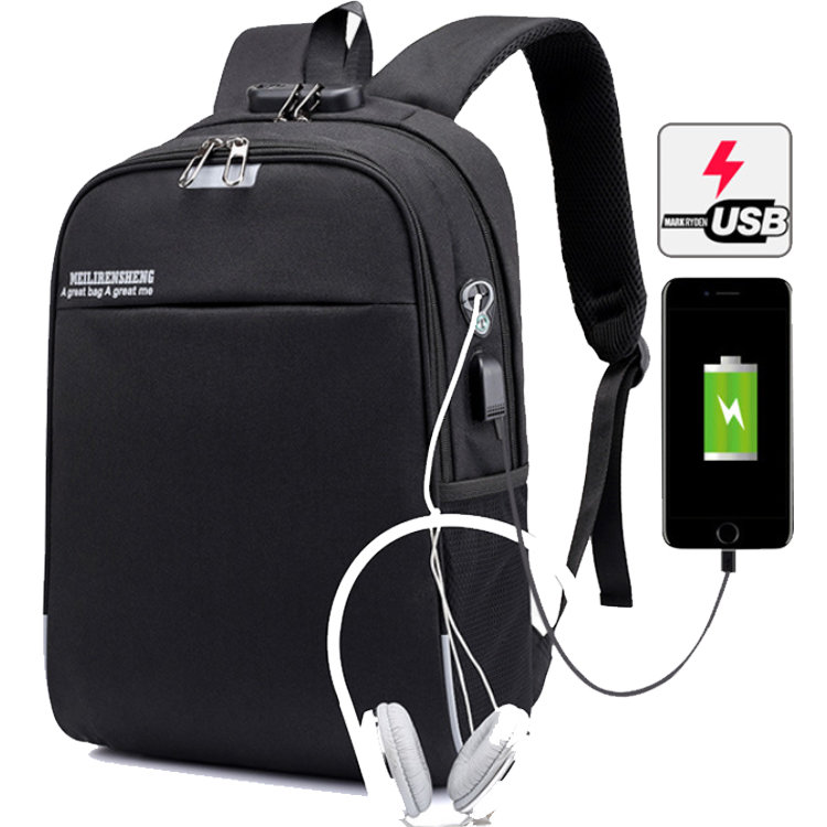Osgoodway2 Leisure College Bags Smart Student School Backpack With USB Charging Port