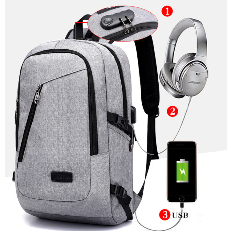 Osgoodway2 Sports Campus Students USB Charging Anti Theft Smart Laptop Backpack