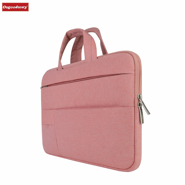 product-Osgoodway-Osgoodway Hot Sale Waterproof Slim Pink Women Laptop Bag Sleeve Bag Pouch Case for