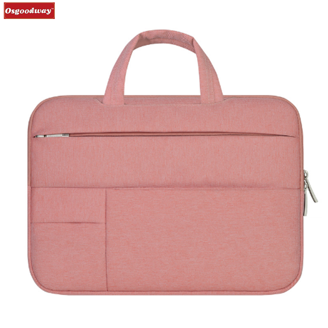 Osgoodway Hot Sale Waterproof Slim Pink Women Laptop Bag Sleeve Bag Pouch Case for Ladies Business