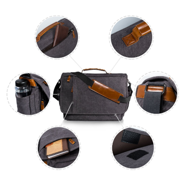 product-Osgoodway High Quality Wholesale 17 inch Men Business Work Briefcase Canvas Laptop Shoulder -1