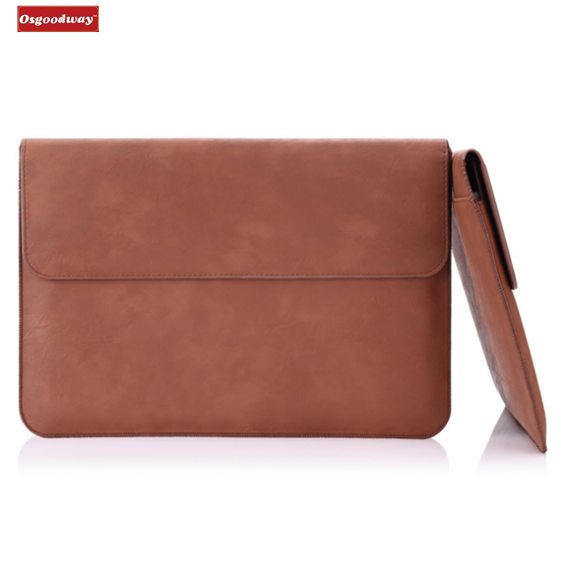 Osgoodway China Suppliers 13.5 Inch PU Leather Protective PC Notebook Fashion Laptop Bag for Ladies Outdoor
