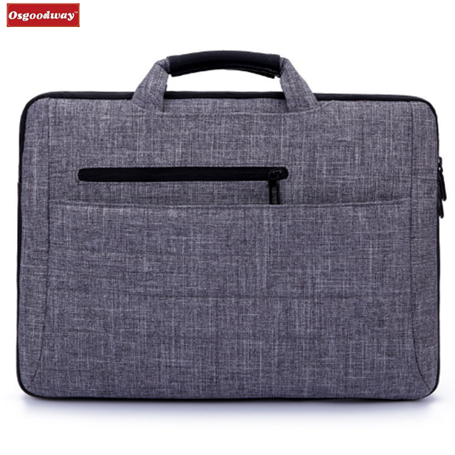 Osgoodway Hot Brand New Arrivals 15.6 Inch Slim Simple Style Laptop Hand Bag Briefcase for Business Computer