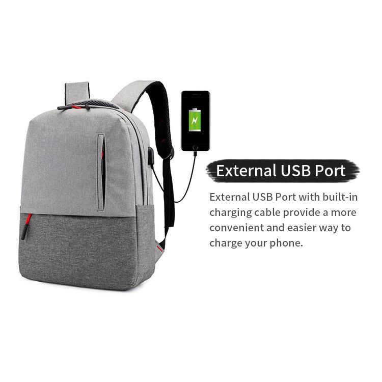 product-Osgoodway2 Wholesale Leisure Designer Backpack USB Port Laptop Travel Backpack Bags for Stud-1