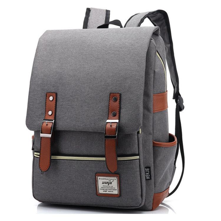 Osgoodway2 Unisex College Bag Laptop Casual Rucksack Waterproof School Backpack Daypacks (Gray)