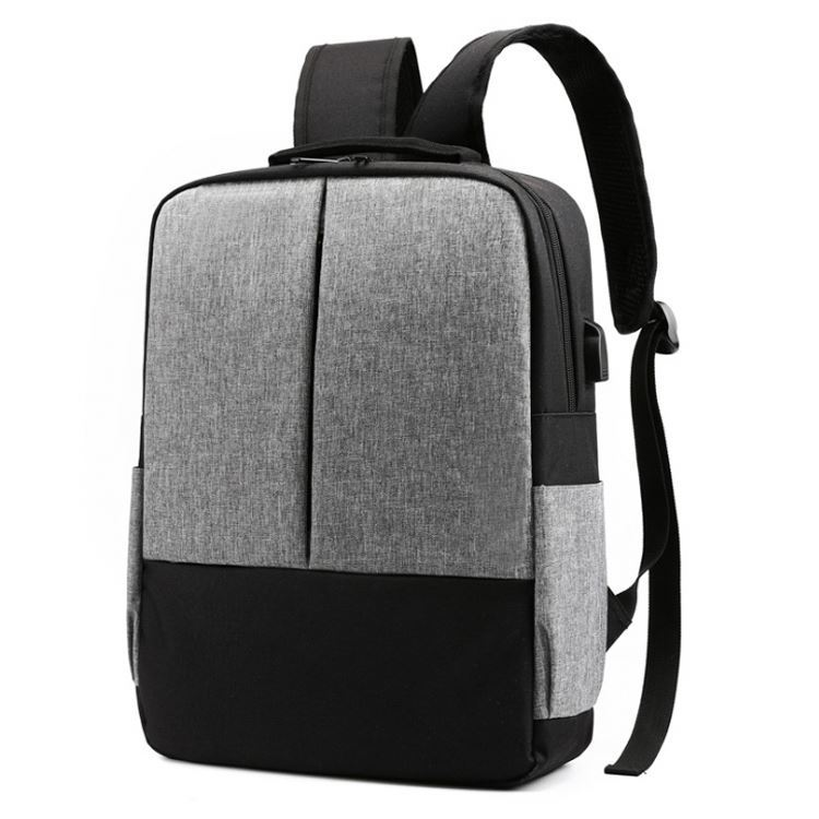 Osgoodway Simple Style USB University Laptop Backpack Laptop Bags with Luggage Belt