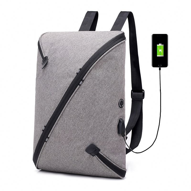 Osgoodway Magic 360 Degree Zipper Detachable Smart Laptop Bags Anti Theft Backpack With Earphone Hole