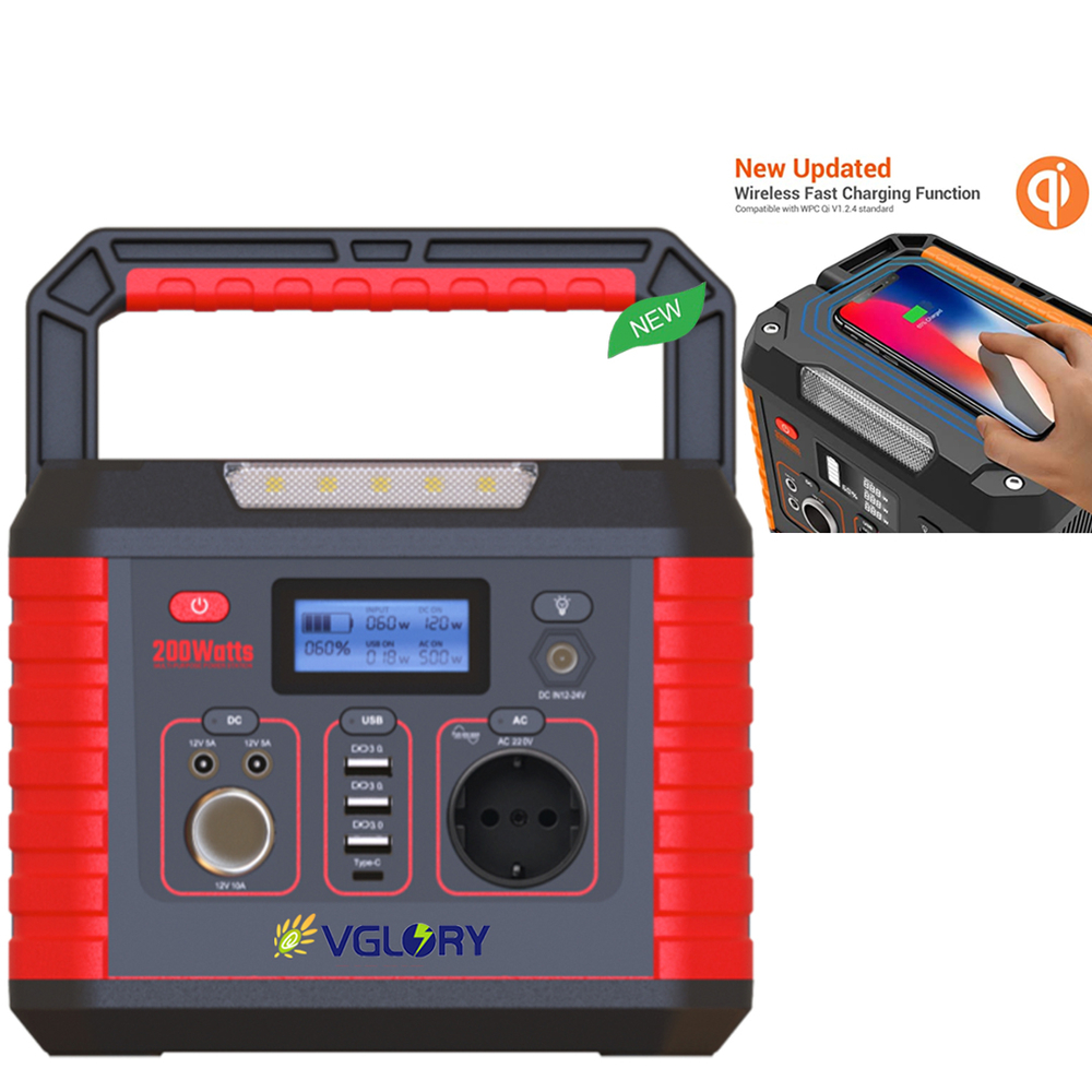 Source Solar Generator Stand Renewable Energy Large Capacity 300w 200w 166wh 138wh Portable Power Station