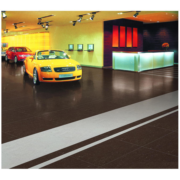 Car ceramic floor tiles showroom