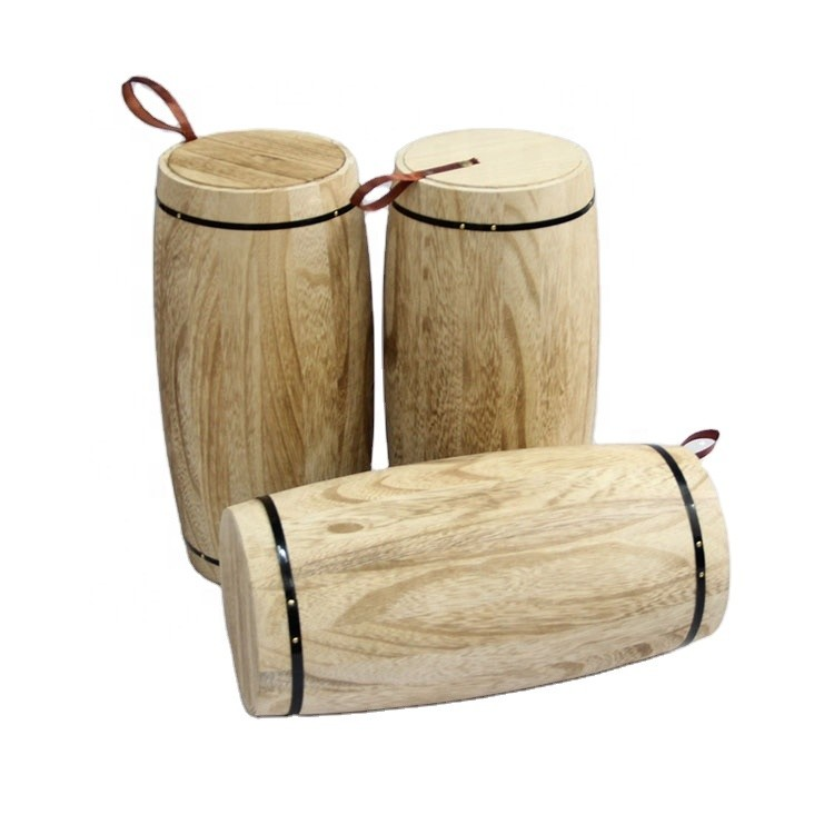 Multifunctional household handcraft antique storage wooden barrel,Natrual wooden decoration barrel