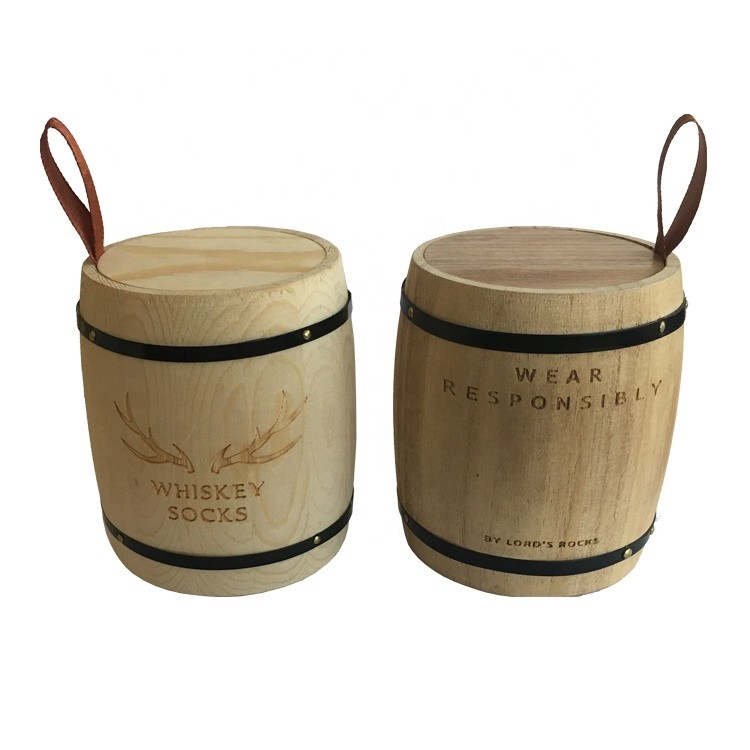 High quality mini antique wooden barrels for coffee tea packing