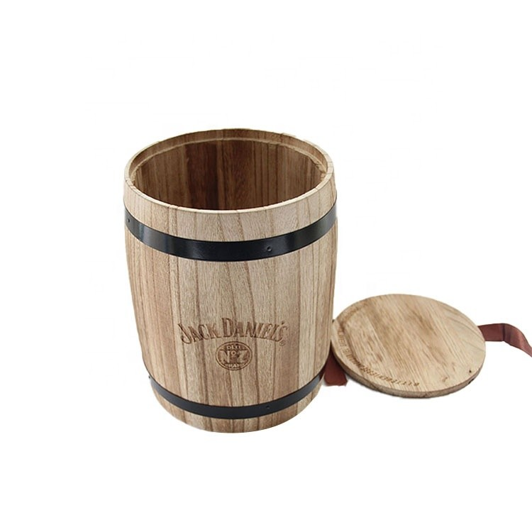 customized eco-friendly solid mini craft wooden coffee beans candy storage barrls small wooden barrel coffee keg