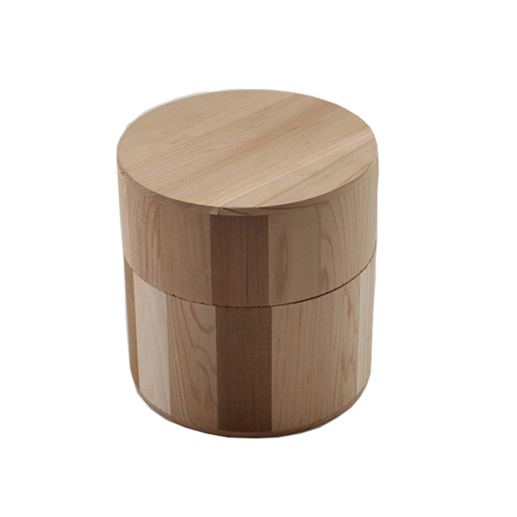 High quality simple useful candle container solid wooden candle jar