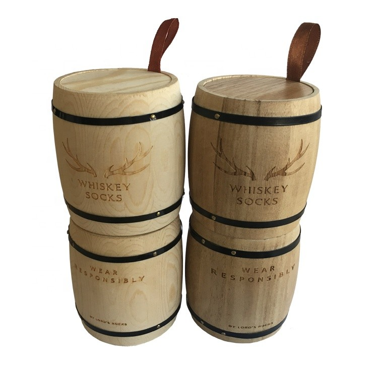 Hot sale Custom cheap wooden tea coffee sugar canisters set wooden coffee barrels