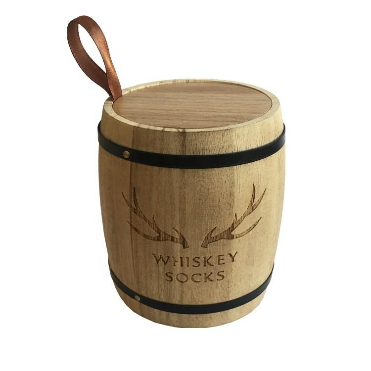 Natural Color Coffee Bean Tea Paulownia Oak BarrelCustom Different Size Wooden Barrel For Sale