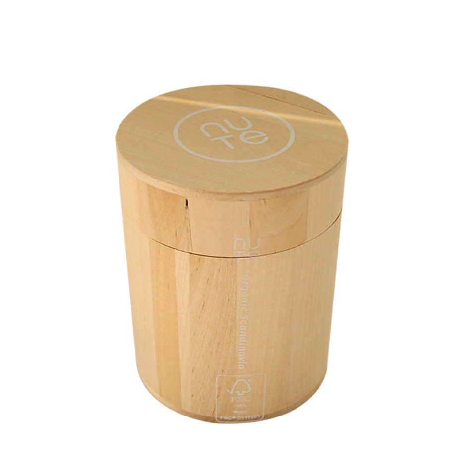 Hot sale simple useful style unfinished small wooden cylinder box