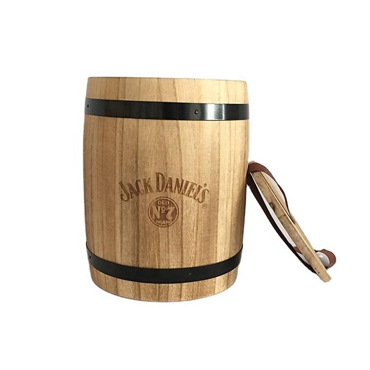 Hot sale new design plain color wooden coffee barrel for bulk sale
