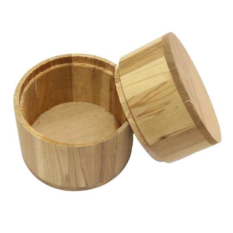 Hot sale customizedcedar wooden jar with lid,wooden gift barrel packaging decoration manufacturer