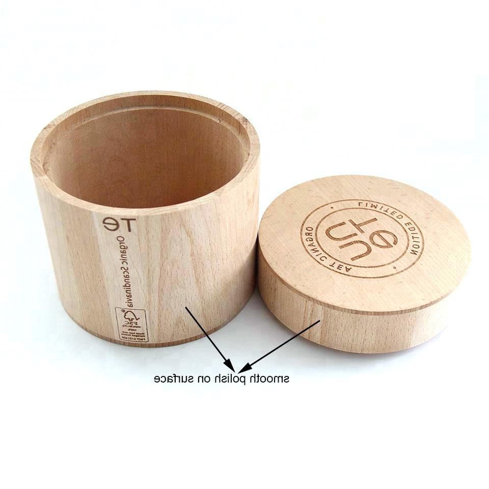 Home use useful High quality handmade natural wooden cream jar