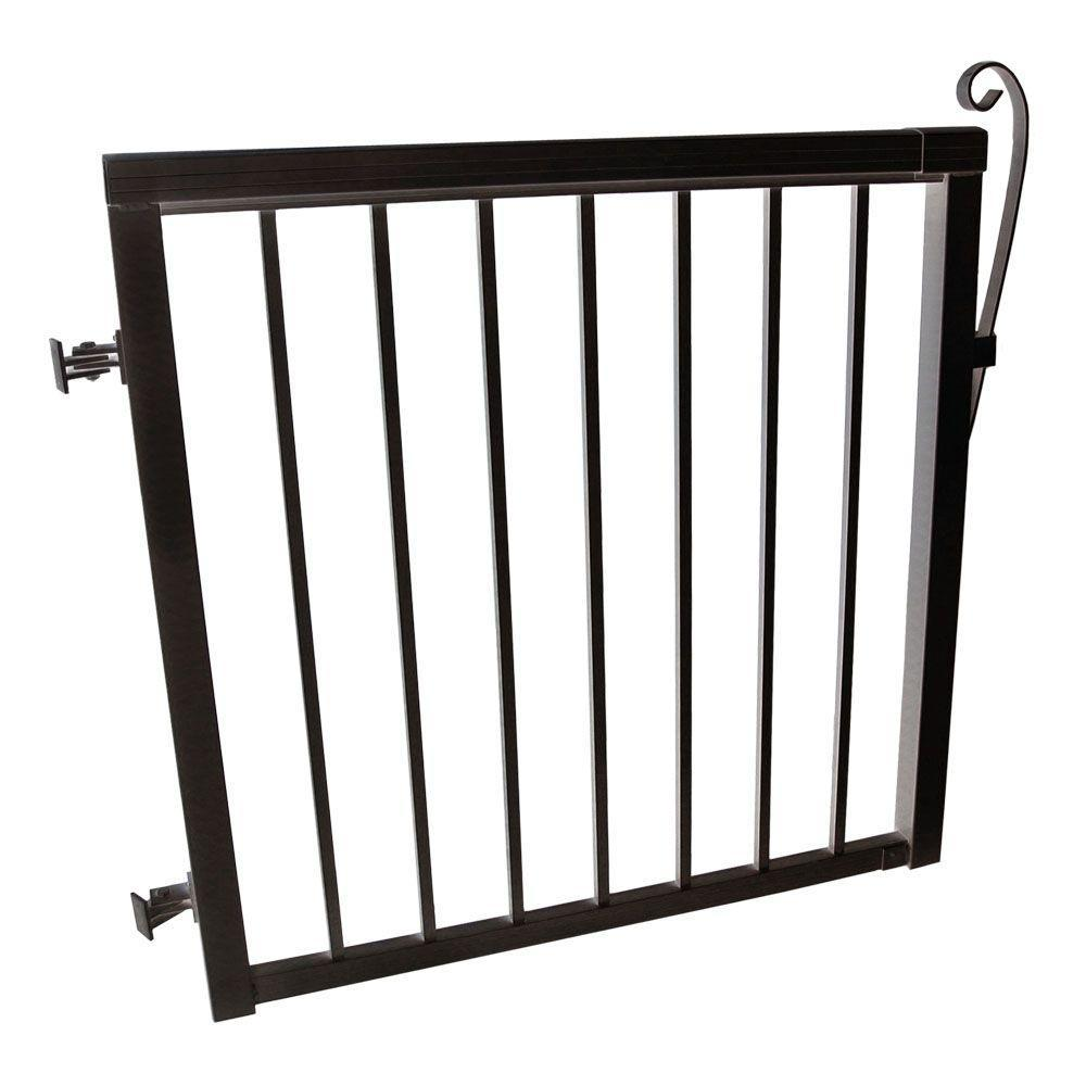 Great Quality Aluminum Black Aluminum Picket Gate Rail Kit Profile Extrusion