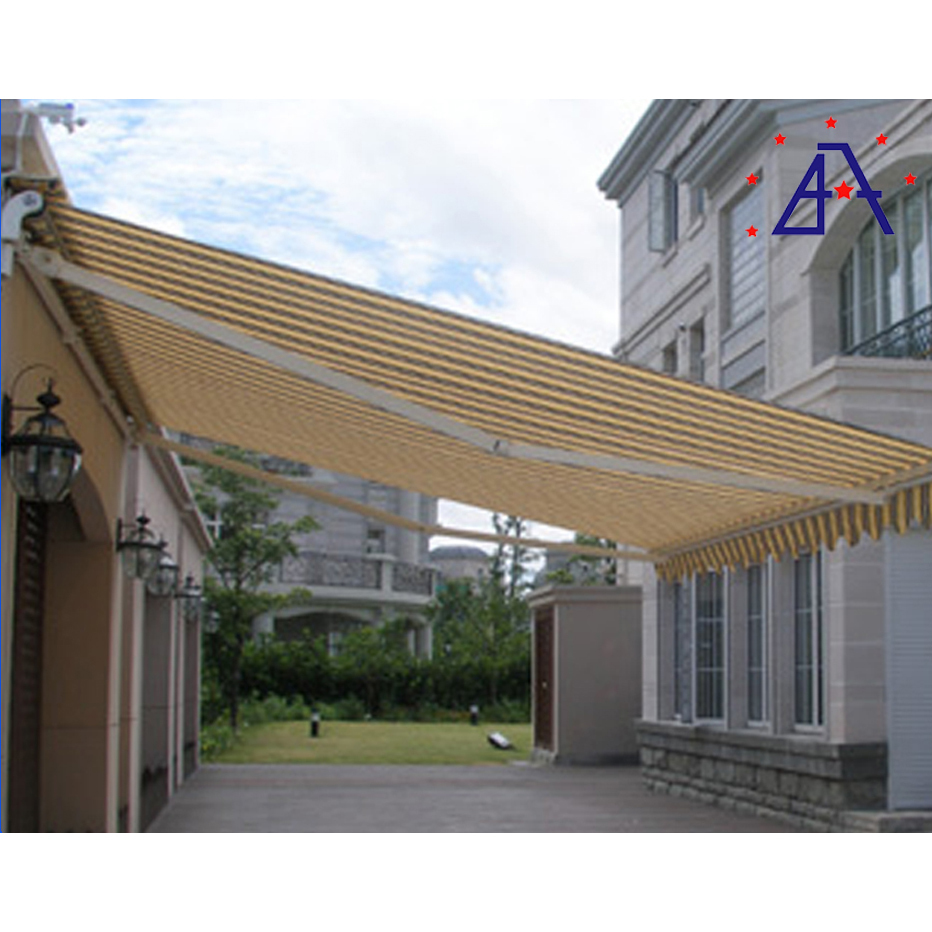 Aluminum 4x4 Outdoor Awning Waterproof Folding arm retractable For Balcony